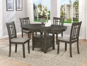 "#2195GY – The ""Hartwell"" Dining Set in Grey"
