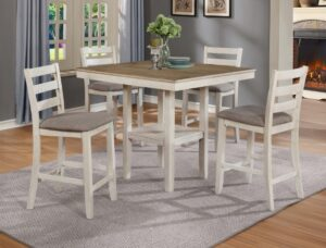 "#2630WH – The ""Tahoe"" Counter-Height Dining Set in White"