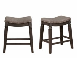"#2784C24GY – The ""Farlin"" Counter Stool – Set of 2"