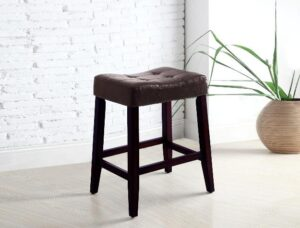 "#2787C24ESP – The ""Kent"" Counter Stool in Espresso – Set of 2"