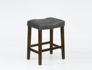 "#2789S24GYBT – The ""Verona"" Counter Stool in Grey – Set of 2"