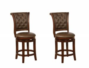 "#2792C24ESP – The ""Granville"" Swivel Counter Stool – Set of 2"