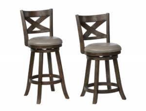 "#2793/#2993 – The ""Kipper"" Swivel Stool in Grey – Set of 2"