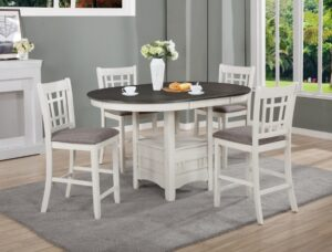 "#2795CG – The ""Hartwell"" Counter-Height Dining Set in Chalk"