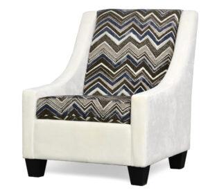 "#390 – ""Luna"" Accent Chair in Hearth Bone/Calan Truffle"
