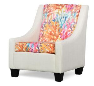 "#390 – ""Luna"" Accent Chair in Zander Ivory/Odessa Bliss"
