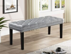 "#4941GY – The ""Amari"" Bench in Grey"