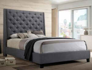 "#5265GY – The ""Chantilly"" Bed in Grey"
