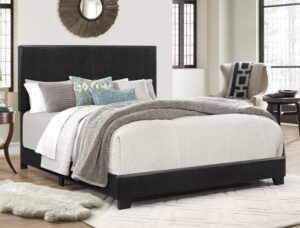 "#5271PU – The ""Erin"" Bed in Black PU"