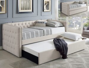 "#5335IV – The ""Trina"" Twin Daybed in Ivory"
