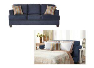 "#5650 – The ""Beamer Denim Vintage"" Sleeper Sofa"