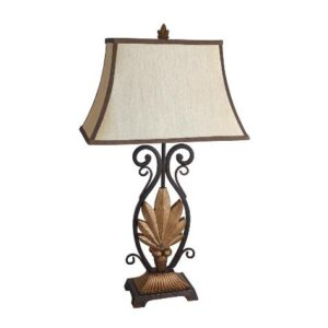 """#6207T – The """"Golden Leaf"""" Table Lamp – Set of 2"""