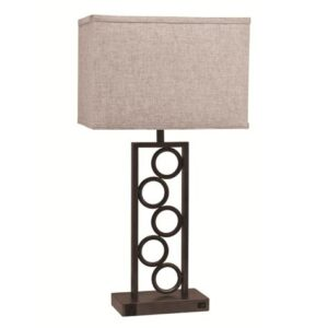 "#6234T – The ""Stacked Circles"" Table Lamp – Set of 2"