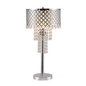 """#6239T – The """"Crystals & Mesh"""" Table Lamp"""