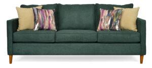 "#8500 – The ""Ivy"" Sofa Set in Jennings Green/Bennett Oatmeal/Sirocco Plumage"
