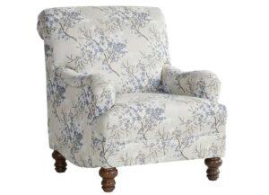 "#85C – The ""Cherry Blossom Cornflower"" Accent Chair"