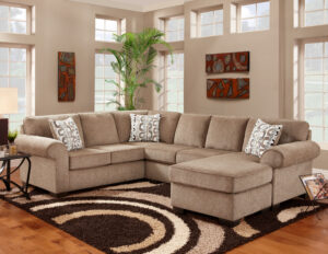 "#AF3050 – The ""Jesse Cocoa"" Sectional"