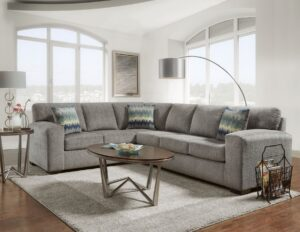 "#AF5950 – The ""Silverton Pewter"" Sectional"