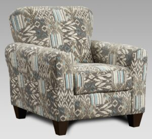 """#AF9001 – The """"Style 1"""" Accent Chair in Medley Nickel"""