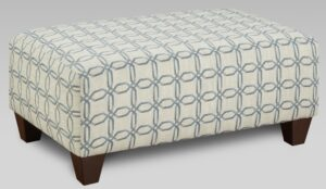 """#AF9005 – The """"Style 1"""" Ottoman in Lisa Denim"""
