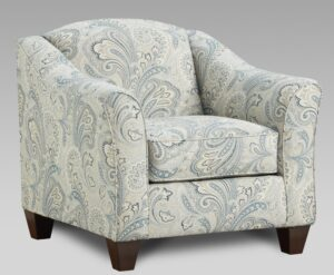 """#AF9011 – The """"Style 2"""" Accent Chair in Barilla Denim"""