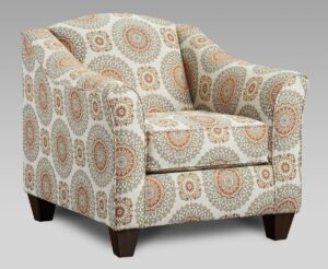 """#AF9011 – The """"Style 2"""" Accent Chair in Brianne Marmalade"""