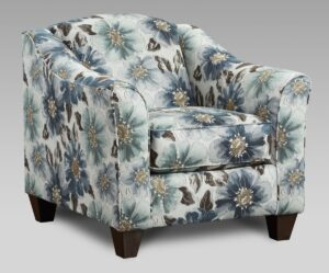 """#AF9011 – The """"Style 2"""" Accent Chair in Envy Aquarium"""