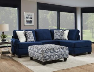"#AF8642 – The ""Groovy Navy"" Sectional"