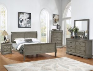 "#B3550 – The ""Louis Phillipe"" Bedroom in Weathered Grey"