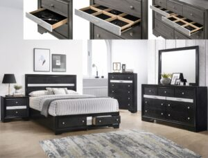 "#B4670 – The ""Regata"" Storage Bedroom in Black"