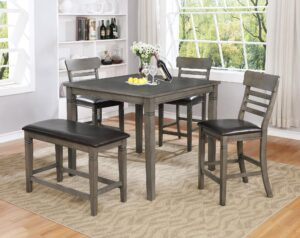 "#DIN1744 – The ""Grey"" Counter-Height Dining Set"