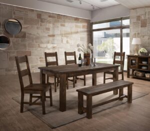 "#DIN6377D – The ""Harrison"" Dining Set with Bench"
