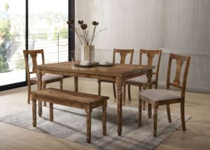 "#DIN71730 – The ""Carson"" Dining Set with Bench"