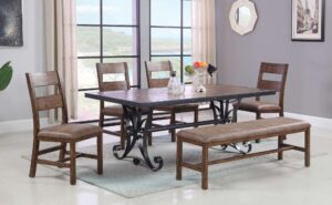 "#DIN8703D – The ""Oliver"" Dining Set with Bench"