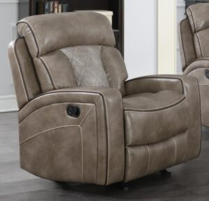 "#DL7090 – The ""Top Flight Taupe"" Recliner"