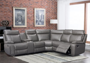 """#LR81208GR – The """"Deacon"""" Sectional in Grey"""