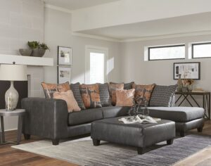 "#NCU3069 – The ""San Marino Charcoal"" Sectional"