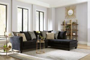 "#NCU3079 – The ""Jet Black"" Sectional"