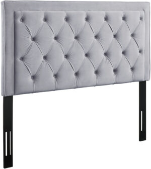 "The ""Nacht"" Headboard in Grey Velvet"