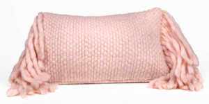 "The ""Afrino"" Wool Pillow in Pink"