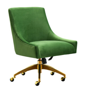 "The ""Beatrix"" Office Chair in Green Velvet"