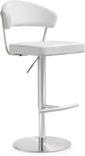 """The """"Pratt"""" Swivel Counter Stool in White – Set of 2"""