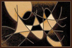 """""""Gallery 24"""" Rug in Black, 8′ x 11′"""