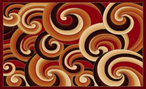 """Gallery 31"" Rug in Red, 8′ x 11′"