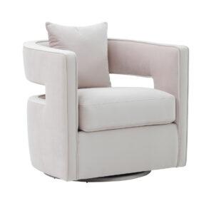"""The """"Kennedy"""" 360 Swivel Chair in Blush Velvet"""