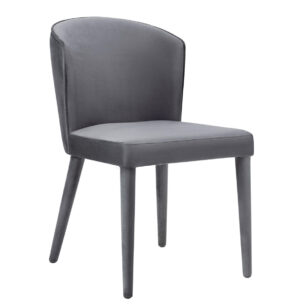 "The ""Metropolitan"" Chair in Grey Velvet"