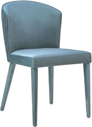 "The ""Metropolitan"" Chair in Sea Blue Velvet"