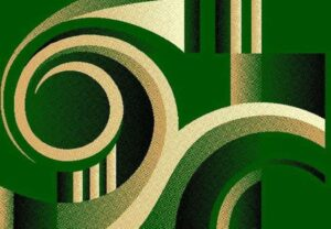 """Moderno 19"" Rug in Green, Available in Two Sizes"