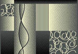 """Moderno 20"" Rug in Grey, 6′ x 8′"