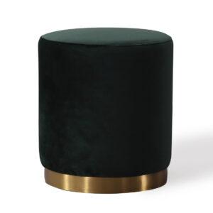 """The """"Opal"""" Ottoman in Green Velvet"""